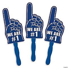 Blue We're #1 Finger Hand Fans
