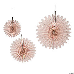 Blush Tissue Hanging Fans