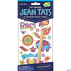 Boho Blue Jean Tats Pack