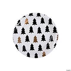Bold Christmas Paper Dessert Plates