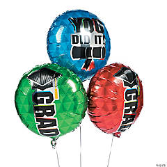 Bold Graduation Mylar Balloons