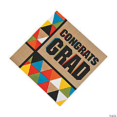 Bold Graduation Party Luncheon Napkins