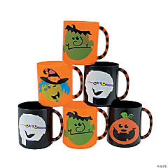 Boo Bunch Halloween Plastic Mugs
