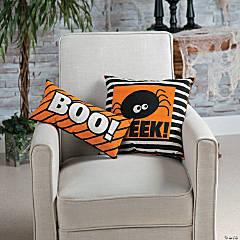 Boo! Eek! Throw Pillows Halloween Décor