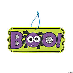 Boo! Spider Sign Craft Kit
