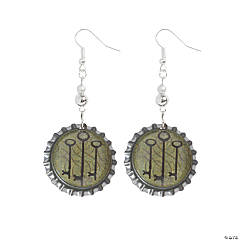Bottle Cap Key Earrings Idea