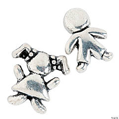 Boy & Girl Large Hole Beads - 13mm - 14mm