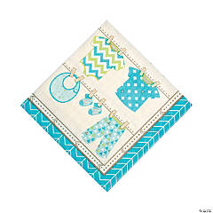 Boy Baby Clothes Luncheon Napkins