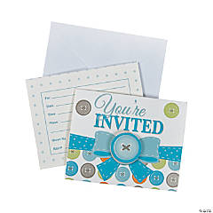 Boy Button Invitations