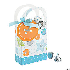 Boy Cute as a Button Favor Boxes