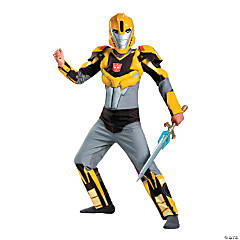 Boy's Classic Muscle Transformers Bumblebee Costume