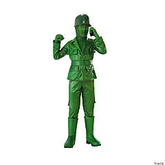 Boy's Green Army Costume