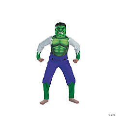 Boy's Hulk Costume With Mask