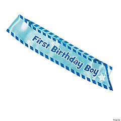 Boy's 1st Birthday Sash