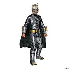 Boy's Armored Deluxe Muscle Chest Batman Costume