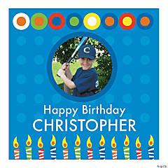 Boy's Birthday Square Custom Photo Banner