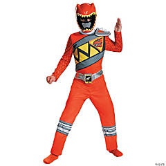 Boy's Classic Red Ranger Dino Costume - Extra Small
