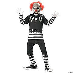Boy's Creepy Clown Costume