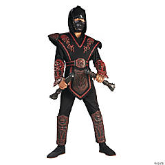 Boy's Red Skull Warrior Ninja Costume