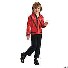 Boy's Red Thriller Jacket Michael Jackson Costume