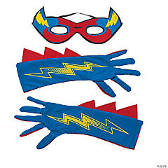 Boy's Superhero Mask & Gloves Set