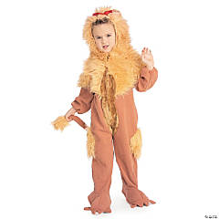 Boy's Wizard Of Oz™ Cowardly Lion Costume - Dark Brown Fur