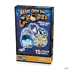 Break Open Real Geodes Science Kit - 15 Geodes