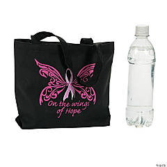 Breast Cancer Awareness Bible Tote Bag