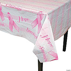 Breast Cancer Awareness Plastic Tablecloth