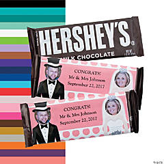 Bride & Groom Custom Photo Candy Bar Wrappers