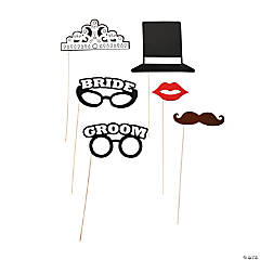 Bride & Groom Photo Stick Props