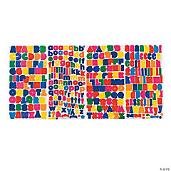 Bright Alphabet Stickers