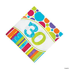 Bright & Bold 30th Birthday Luncheon Napkins