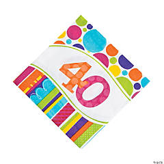 Bright & Bold 40th Birthday Luncheon Napkins