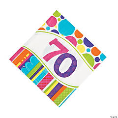 Bright & Bold 70th Birthday Luncheon Napkins