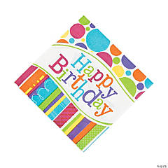 Bright & Bold Birthday Luncheon Napkins