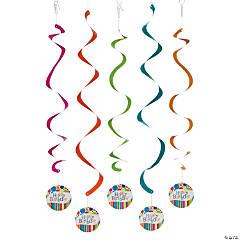 Bright & Bold Hanging Swirl Decorations