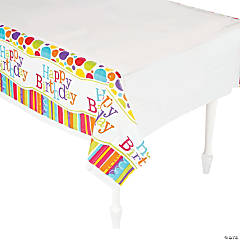 Bright & Bold Happy Birthday Tablecloth