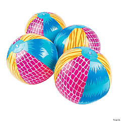 Bright Animal Print Beach Balls