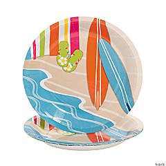 Bright Beach Paper Dessert Plates