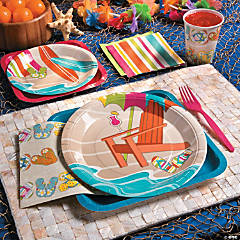 Bright Beach Party Supplies