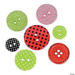 Bright Christmas Button Assortment