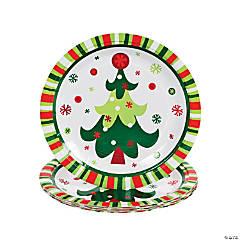 Bright Christmas Paper Dessert Plates