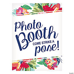 Bright Floral Photo Booth Sign