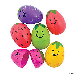 Bright Fruit Plastic Easter Eggs