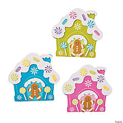 Bright Gingerbread House Magnet Craft Kit