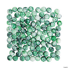 Bright Green Watercolor Beads