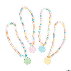 Bright Hibiscus Candy Necklaces