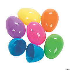 Bright Large Plastic Easter Eggs