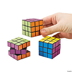 Bright Mini Puzzle Cubes